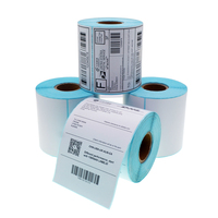 Roll blank 4x6 inch 100x150mm direct thermal paper barcode shipping address adhesive label sticker for Zebra Dymo printer