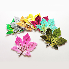 new design iron on maple leaf embroidery patch set