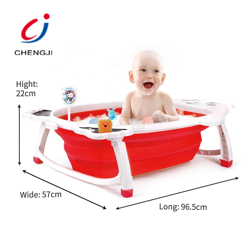Flexible funny children size safety plastic portable bathtub <strong>baby</strong> foldable