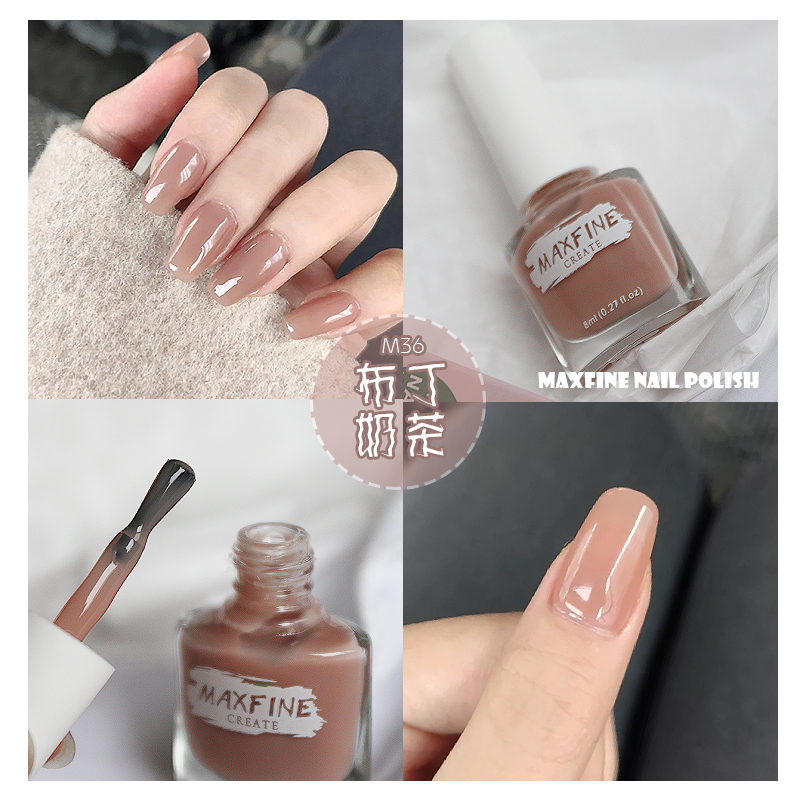 MAXFINE high quality healthy lasting nude lady nail polish brands polish nails for daily