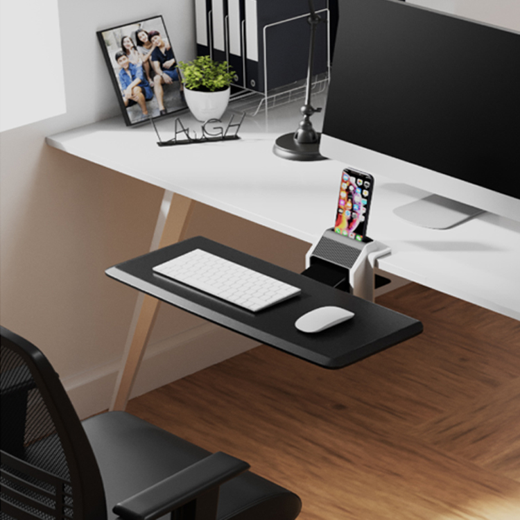 tiroir coulissant étagères Sous bureau clavier de l/'ordinateur plateau avec tapis de souris