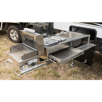Best Caravan RV Camper Trailer Pull Out Kitchen With BBQ And Sink