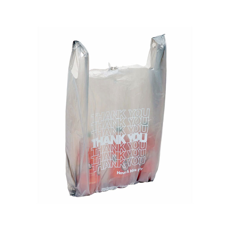 Wholesale Customized Logo Printing High Quality Heavy Duty Plastic T-shirt Bag Online Shopping