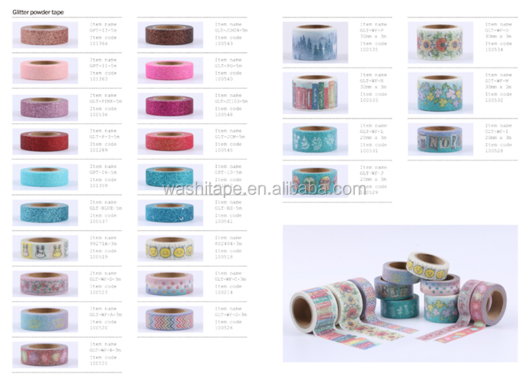 Fantasy craft flowers plants butterfly flash film washi tape