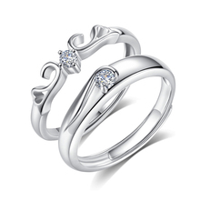 Hot Sale 925 Silver Couple Engagement Wedding <strong>Ring</strong> For Men And Women