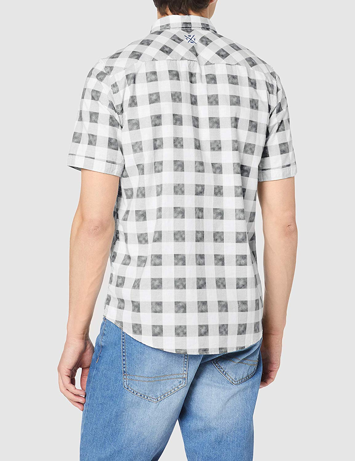 Summer New Style Customized Regular Fit 100% Cotton Casual Men's Short Sleeve Plaid Shirt