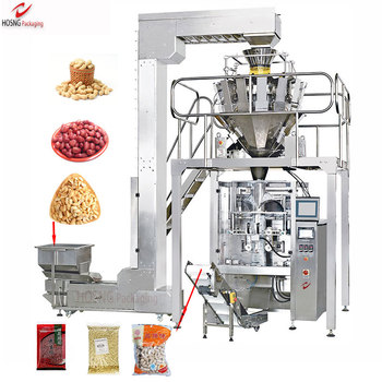 Multi Heads Weigher Automatic Vertical FFS Sugar Rice Peanut Granular Packing Production Line Packaging Machine Manufacturer