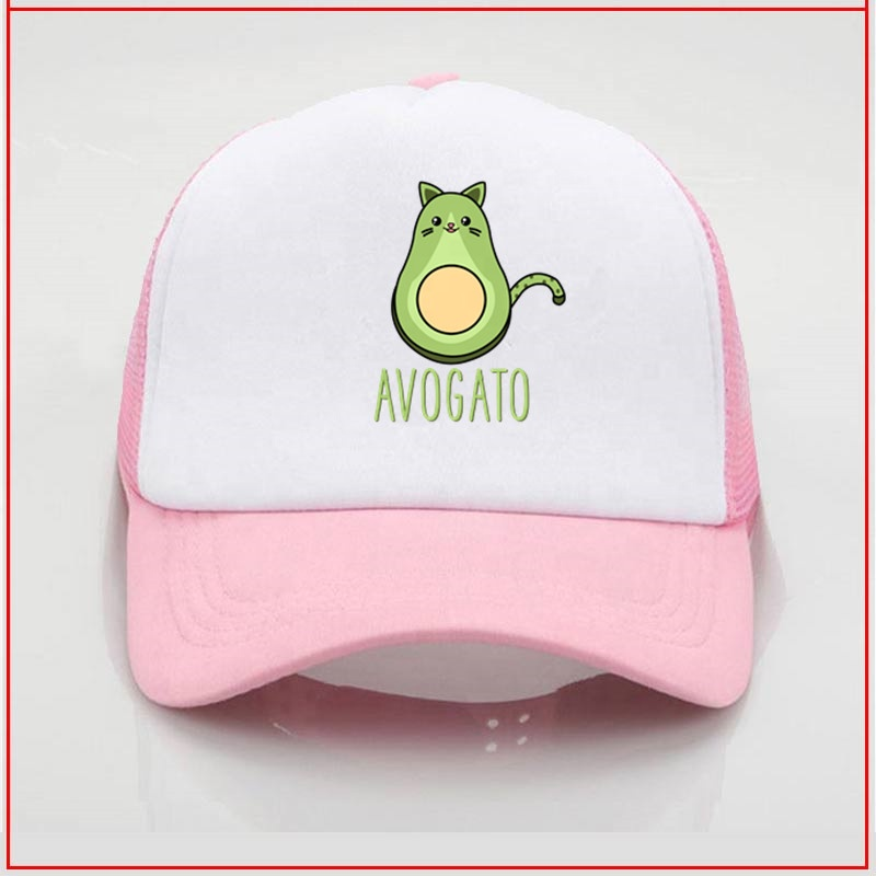 Cute Funny Avocado Cat Kawaii Avogato Cinco De Mayo <strong>y</strong> baseball hat baseball hat DIY Design Baseball Sport-<strong>Cap</strong> Hats