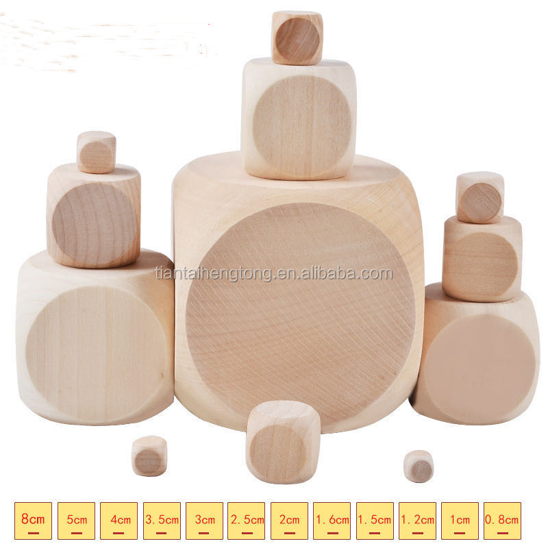 six sided wooden dice making pattern, square beads security wooden beads children game accessories wholesale