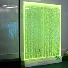 Indoor Decor Customized Partition Wall Acrylic Water Bubble Panels LED Background Wall