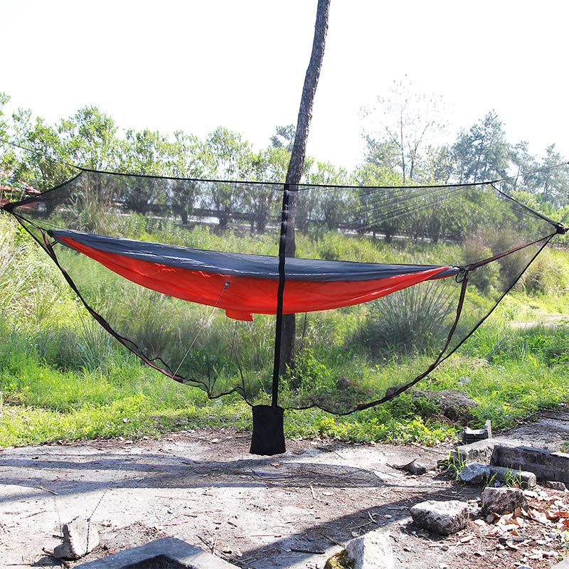 <strong>360</strong> degree all-round hammock outdoor cover ultra-light portable mosquito net hammock