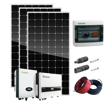 SUNKET 5kw solar power energy on grid system house supply roof use easy installation