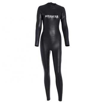 DIVESTAR New Design Long Sleeve Neoprene Freediving Suit Smoothskin wetsuit Women full wetsuit