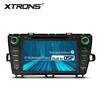 Xtrons 8 inch android double din car radio for toyota prius with full rca output/obd ii/dvd/gps/dsp, car head unit