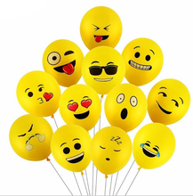 Wholesale Low MOQ <strong>12</strong> inch Emoji balloons Yellow Latex Cartoon inflatable balloons for Party Wedding decoration