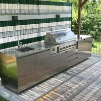 2019 Hangzhou Vermont outdoor stainless steel kitchen cabinet with barbecue grill islands