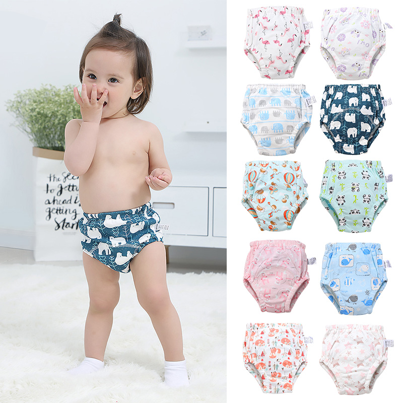 High quality reusable toddler potty cotton training pants soccer training pants