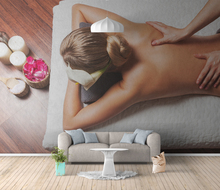 healthy salon spa massage beauty woman flowers uv print modern special <strong>design</strong> for rest room 8d hot sexy beautiful girl wallpaper