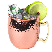 Wholesale blank 304 stainless steel beer drinking cup moscow mule copper mugs for <strong>bar</strong>