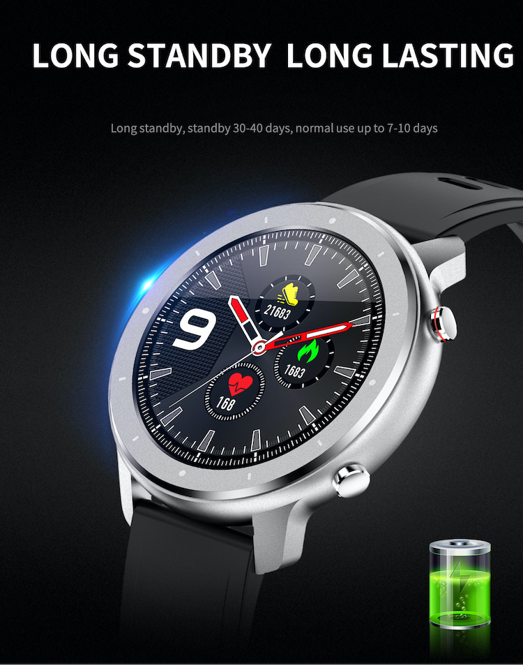 Business style continuous dynamic heart rate mobile phone watches SPO2 BP FC luxury brand new men watch