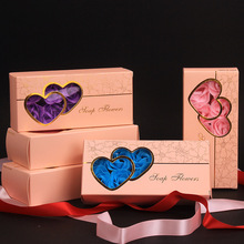 <strong>OEM</strong> 10PCS Rose Soap Flower Storage Box Mother's Day Gift Set Paper Box