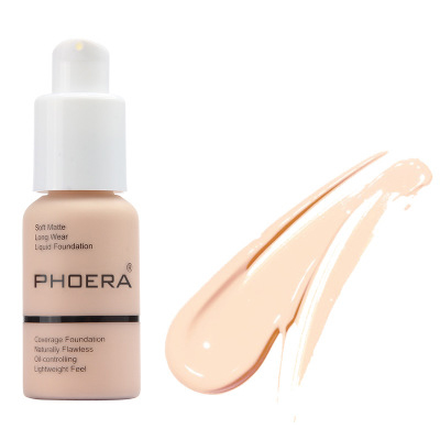 PHOERA Soft Long Wear 10 Colors Stayve Best Liquid Foundation Makeup Cream