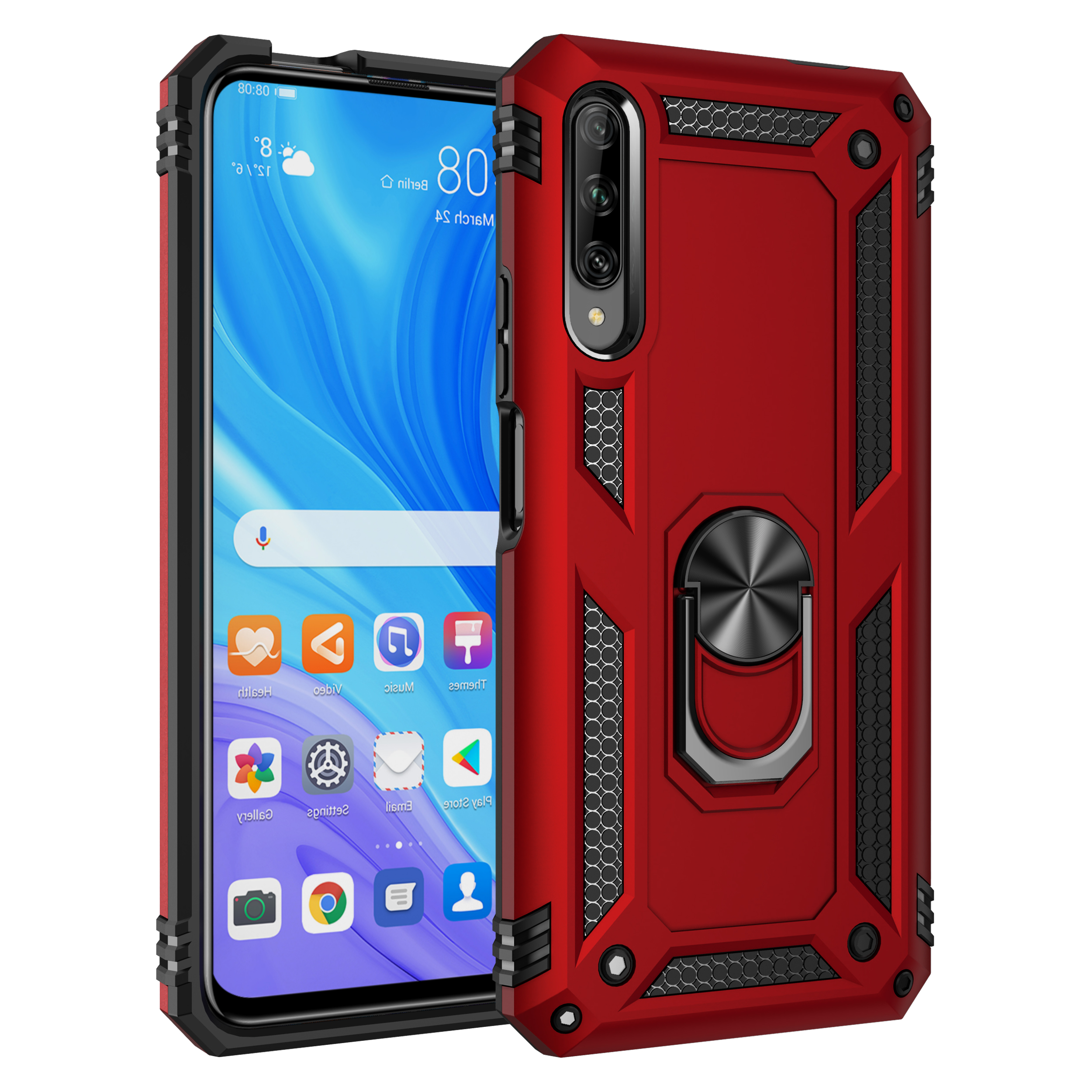 2019 New Arrivals Shockproof Bracket Ring Holder Car Magnet Armor Case For Huawei Y9s/<strong>P</strong> smart Pro 2019/Honor 9X Pro