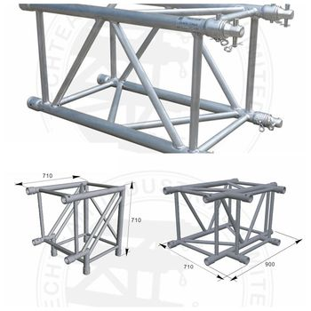Best Price hot sale mobile spigot square truss aluminum Spigot Truss