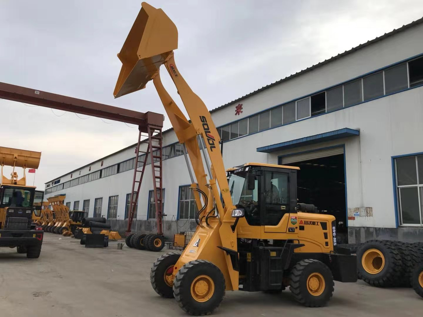 4.2m dumping height wheel loader,qingzhou wheel loader with good quality