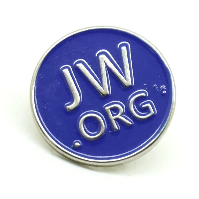 Custom round shape hard enamel metal lapel pin