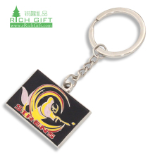 single piece mini guitar enamel metal custom logo key chain metal keychain customized made metal blank sublimation keychains