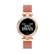 <strong>X10</strong> Ladies 2019 Newest Smart Watch Round For Women IP68 Heart Rate Blood Pressure Monitor Message Call Reminder Pedometer Calor