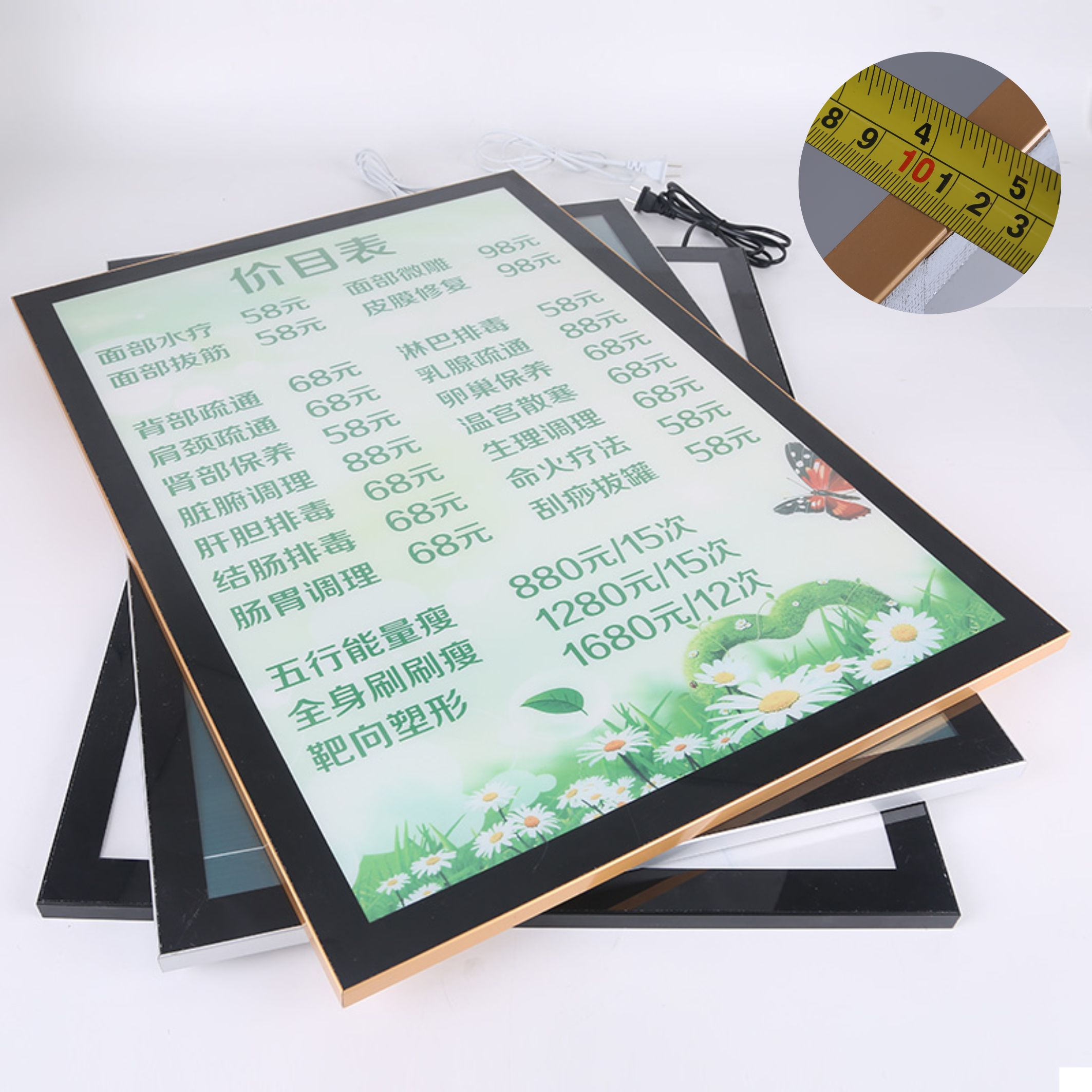 Mall Store Restaurant Aluminum Picture Poster Frame Advertising Acrylic <strong>Led</strong> Magnetic Light Box