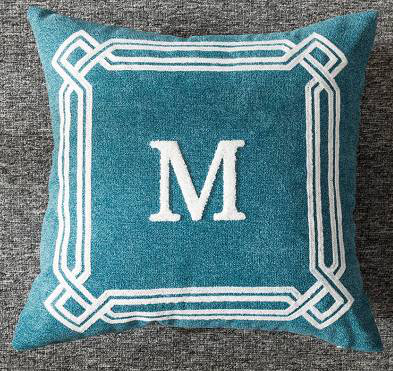 Embroidery personality Letter design square pillow cover cushion cover