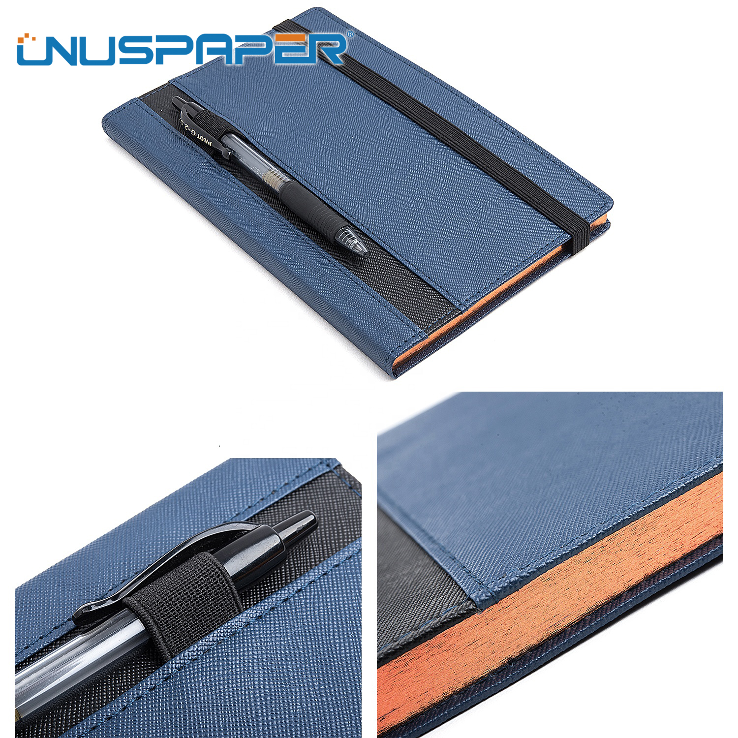 A5 School PVC Leather Custom Notebook with Pen loop