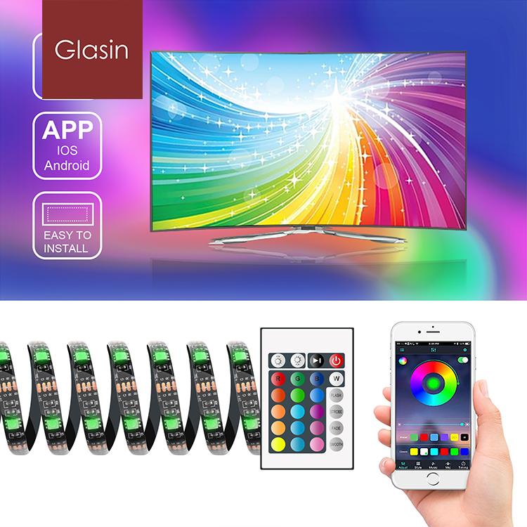2M WiFi Smart LED Strip <strong>RGB</strong> Waterproof USB Smart Strip Compatible With Alexa for TV and PC