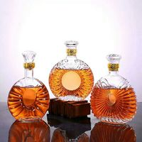 Factory Produced Luxury Empty Custom Crystal Glass Wine/Liquor Decanter/Bottle Set