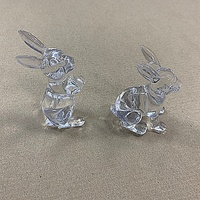 Stylish And Transparent Plastic Rabbit For Easter Decorative