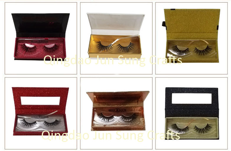 Wholesale False Eyelashes 3d Faux Mink Synthetic Hair Strip Lashes with Packaging