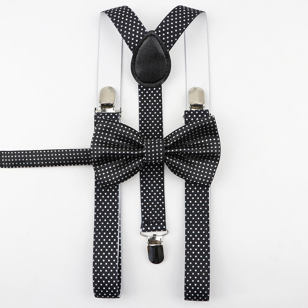 Man Belt Cotton Bow Tie Set Woman Men's Suspenders Butterfly Clip-on Y-Back Braces Suit Elastic Men Adjustable Suiting