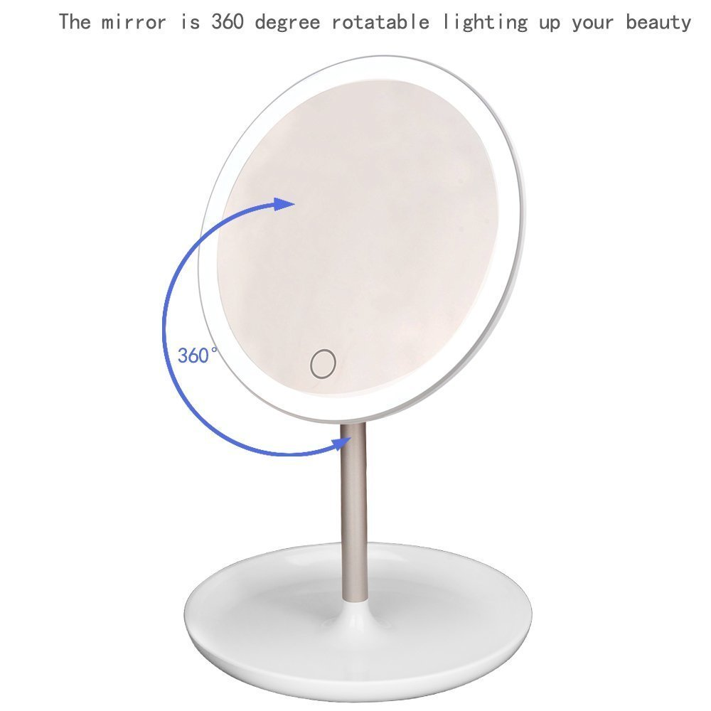 High Quality Makeup Mirror With Lights Desktop LED Vanity Mirror For Make up