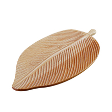 Handmade Household Kitchen Snack Fruit Creative Japanese Wooden Leaf Shape <strong>Plate</strong>
