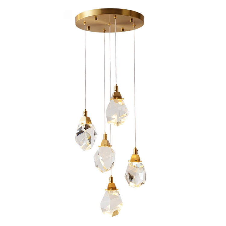 Wholesale interior decoration fixtrues crystal ceiling <strong>led</strong> chandelier pendant light