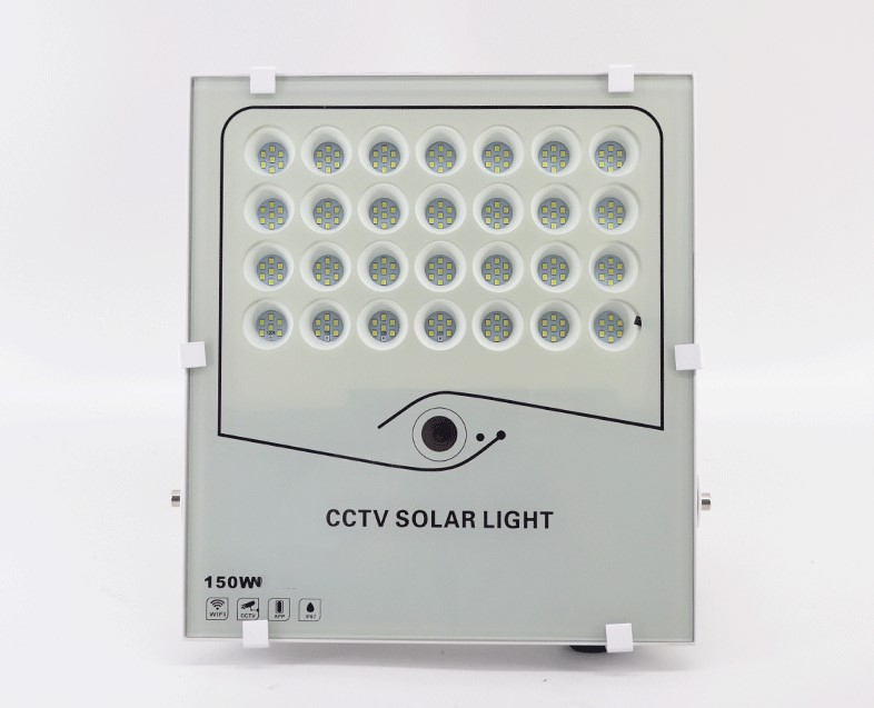 real time monitoring high pixel 16G 32G storage 100w 200w 300w 400w CCTV solar floodlight with radar sensor