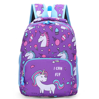 polyester material cartoon small beautiful baby latest school bags for girls kids