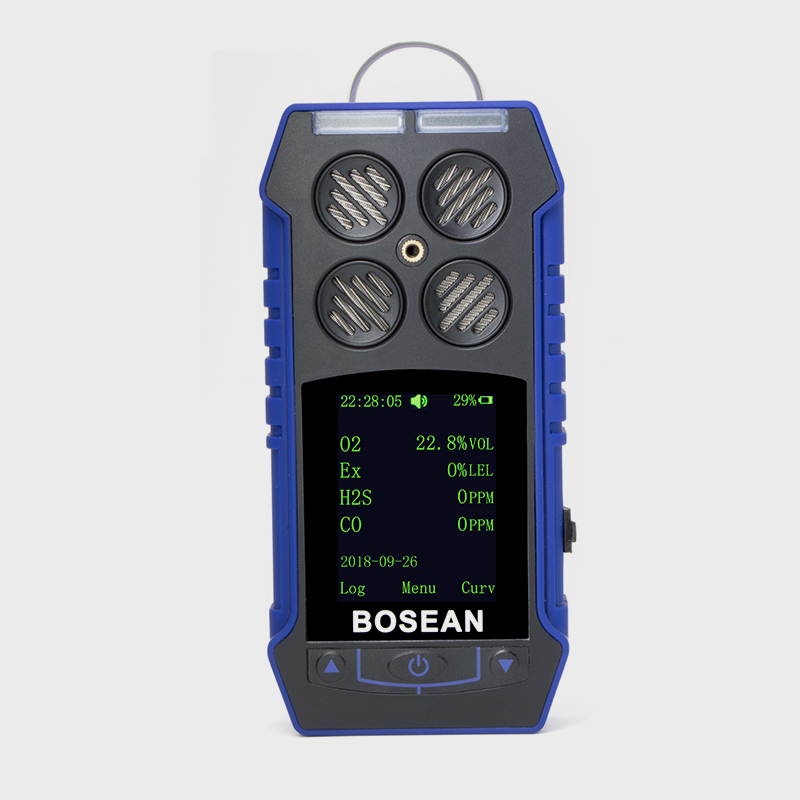 Bosean detector de <strong>gas</strong> analyzer ATEX certified Portable multi <strong>gas</strong> detector for CO, O2, H2S, LEL, CH4