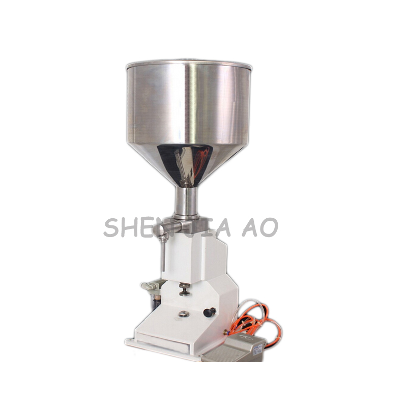 <strong>A02</strong> Pneumatic Paste Liquid Filling Machine 50ml Food Grade Filling Machine Cosmetic Filling Equipment Tools 1PC