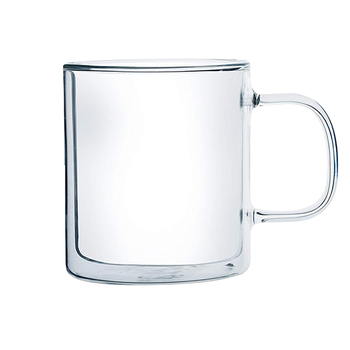 Double Walled Glass Mugs Includes coffee cups 14 oz Capacity with Double Wall Glass to Retain Heat