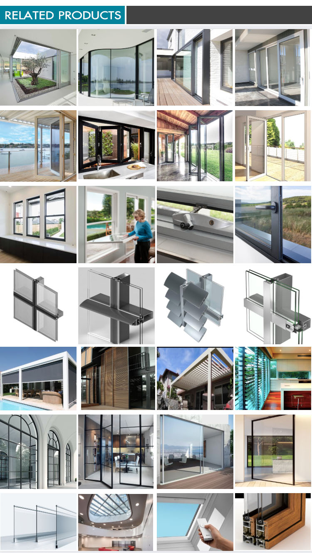 High quality Energy Saving and Acoustic Aluminium sliding double glass door