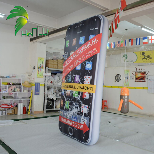 Customized giant inflatable mobile phone model balloon for commercial advertising